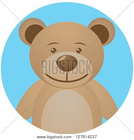 Bear teddy icon app mobile. Teddy bear and bear toy cute teddy and teddy vector. Vector flat design illustration