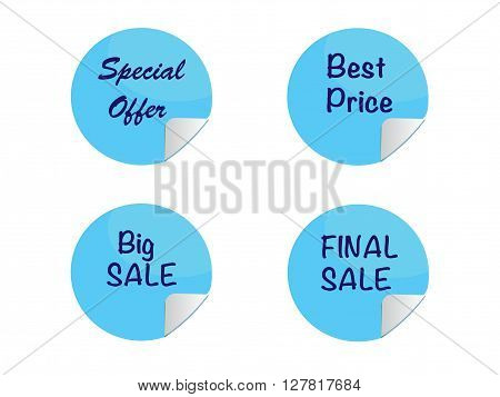 sale and price labels, marketing vector icon