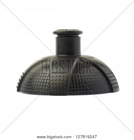 Water sport plastic bottle black cap isolated over the white background