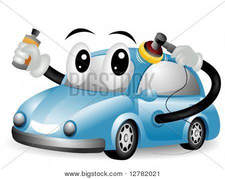 Car Polishing - Vector