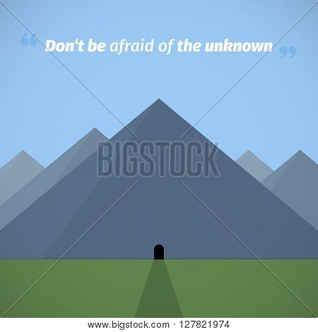 Afraid of the unknown graphic vector illustration