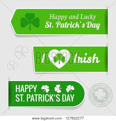 Saint Patrick's day - typographic design tags vector illustration