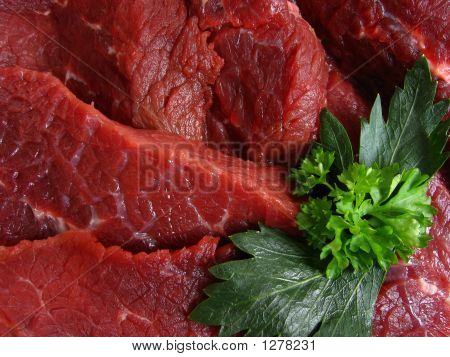 Fresh Beef Meat And Vegetable
