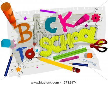 Back to School Design - Vector