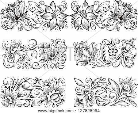 Symmetric Elegant Floral Patterns