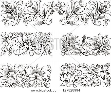 Symmetric Floral Patterns