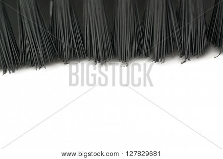 Hair of Hand held small vacuum brush head cleaner isolated over the white background
