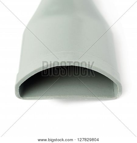 Part of gray Hand held small vacuum cleaner isolated over the white background