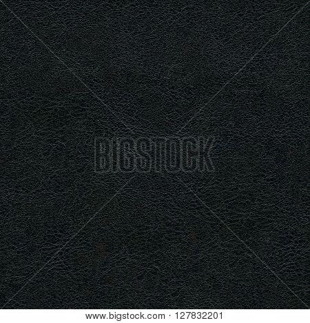 Seamless texture of black leather, synthetic leather