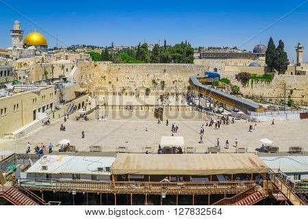 The Western Wall, Al-aqsa Mosque And The Dome Of The Rock, Jerusalem