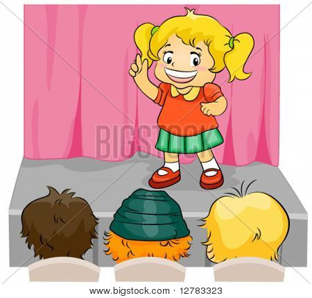 Child on Stage - Vector