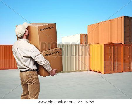 Lieferung Mann bei der Arbeit