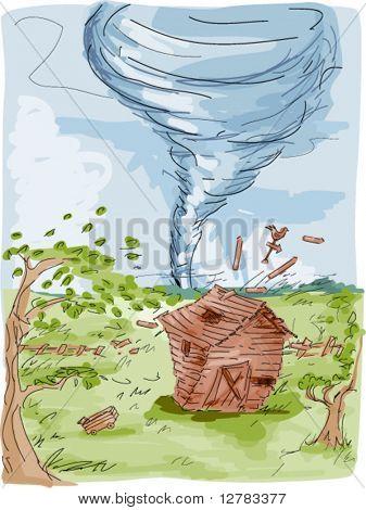 Tornado Farm - Vector