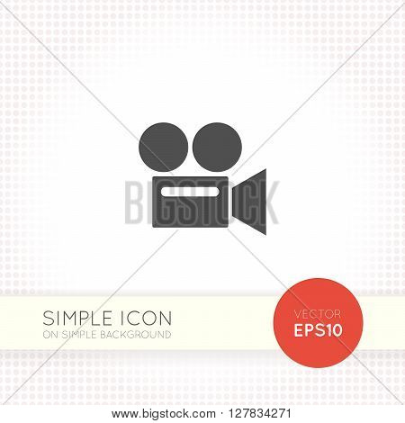 Video camera flat icon, video camera icon eps, video camera icon illustration, video camera icon vector, video camera web icon, retro video camera icon art