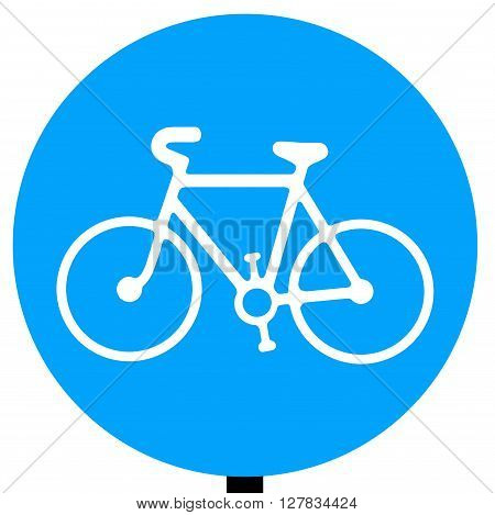 Route to be used by pedal cycles only traffic sign