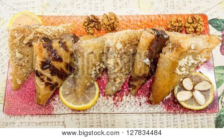 Baklava With Nuts, Lemon And Almonds