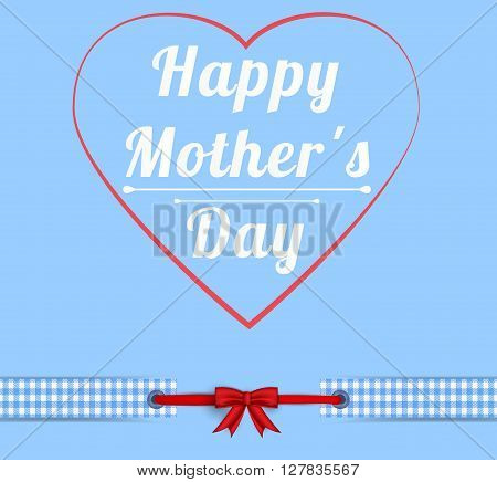 Happy Mothers Day Greeting Card blue Calligraphy Inscription