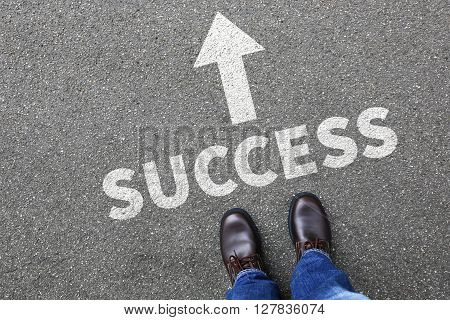 Success Successful Career Businessman Business Man Concept Leadership Plan Strategy