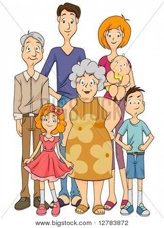 Großfamilie - Vektor