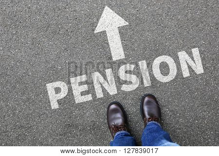Pension Retirement Businessman Business Man Concept