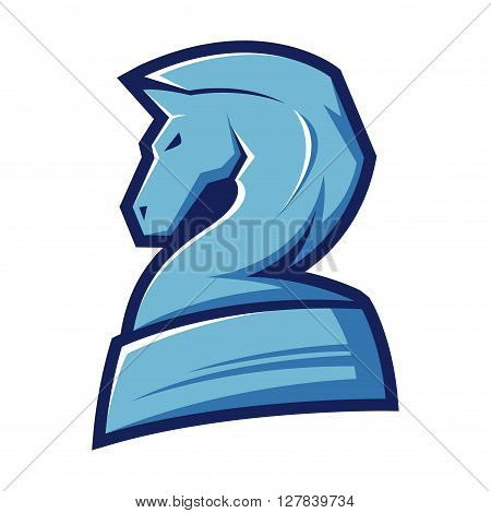 Vector stock of a chess knight horse symbol