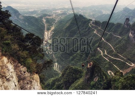 Tianmen Mountain Winding Road