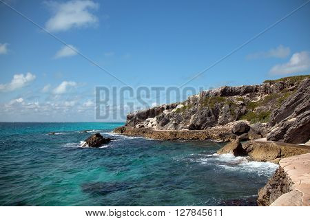Punta Sur (south point) also called Acantilado del Amanecer (Cliffs of the Dawn) on the Mexican island called Isla Mujeres (Island of the Women) Cancun Mexico