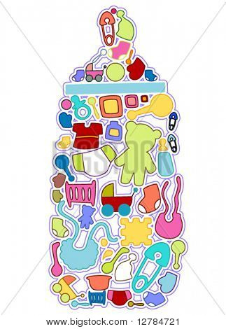 Baby Icons - Vector