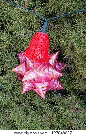 Close -up of very beautiful Christmas-tree decorations