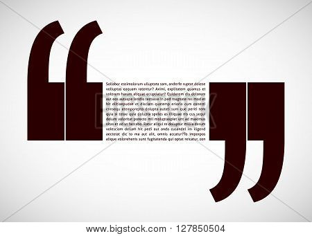 Your text with quotation marks isolated on white background. Eps 10 vector illustration.