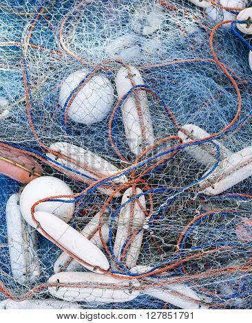 Fishing Net Close up equipment Fish Farming aquaculture