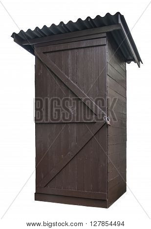 Photo of garden shed made of wood.