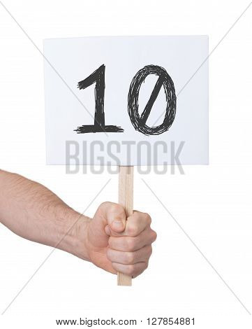 Sign With A Number, 10