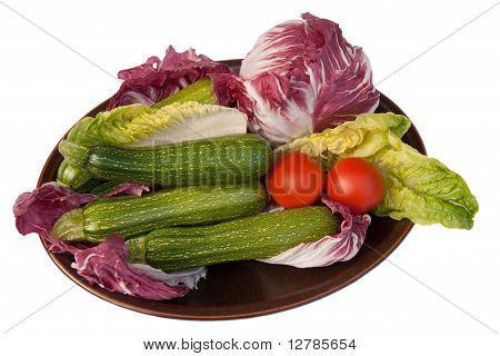 Dish Of Colorful Vegetables