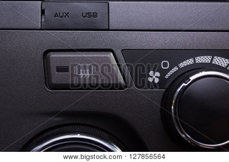 Car Interior Air Conditioning Buttons