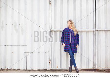 Woman  In A Blue Coat