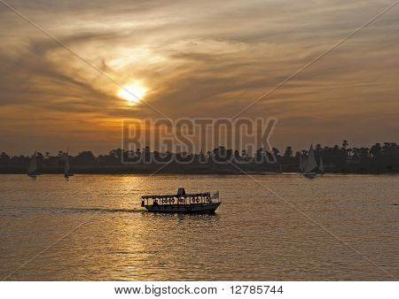 Sunset Over The River Nile