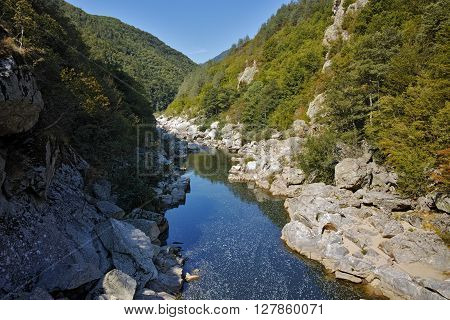 Arda river and Rhodopes mountain near Devil's Bridge, Kardzhali Region, Bulgaria