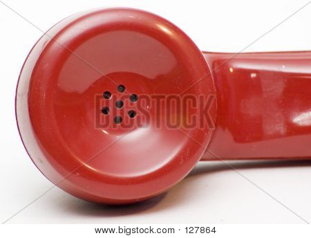 Antique Red Rotary Phone Earpiece