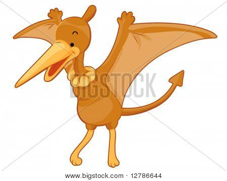 Voando Pterodactyl - vetor