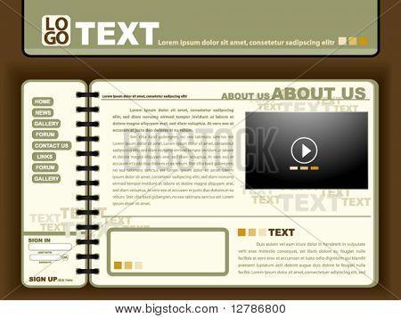 Notebook Website Design Template Design - Vector