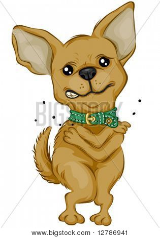 Chihuahua scratching - Vector