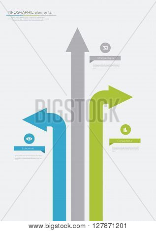Different Way Arrow Minimal infographics. Vector illustration