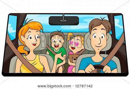 Familienausflug - Vektor