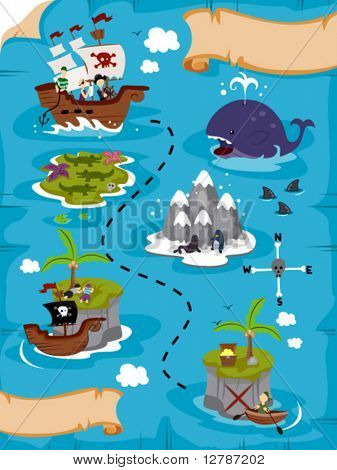 Treasure Map - Vector