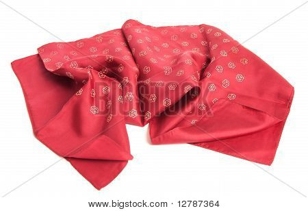 Silky Red Patterned Headscarf