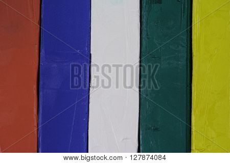 vertical stripes of colored modeling clay background