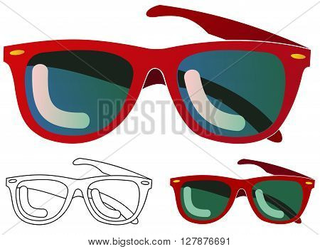 Generic plastic framed cheap sunglasses with variations