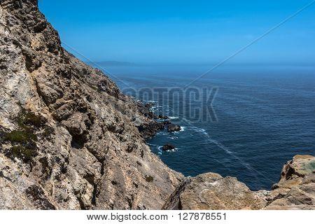 The rocky coast along Point Reyes Coast, California