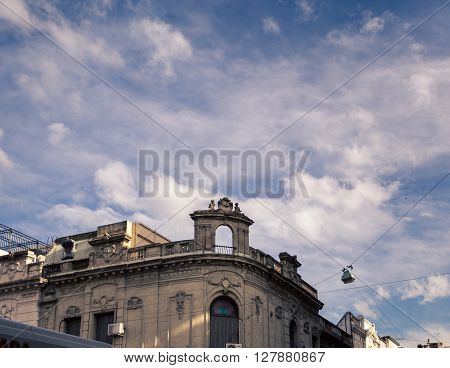 Rounded front of a building in buenos aires